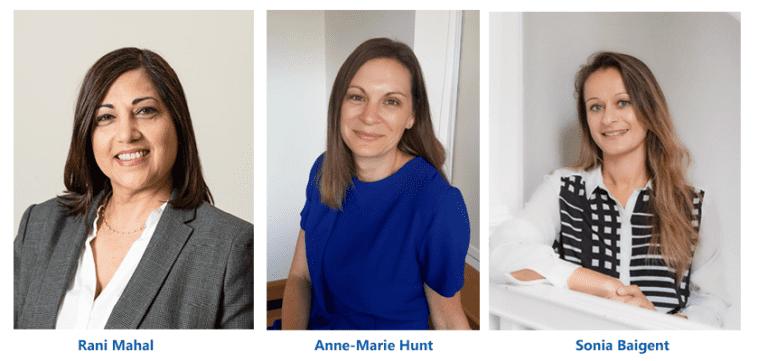 The three new board members