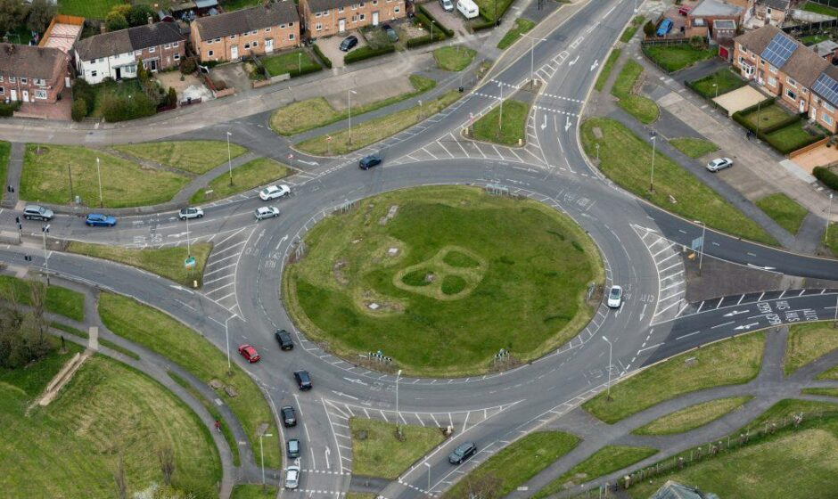 A50 Leicester NW roundabout