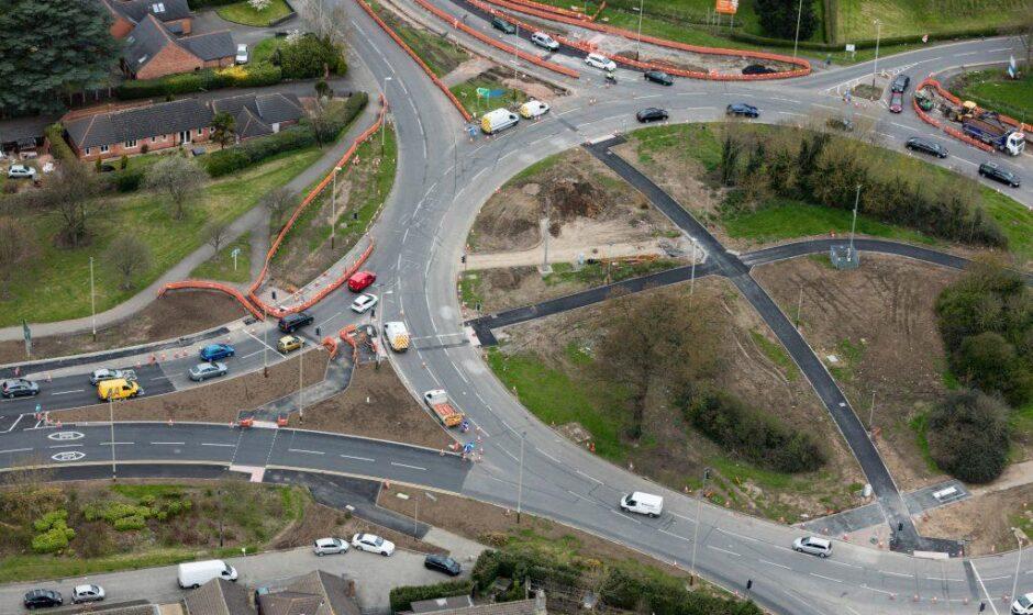 A50 roundabout improvements