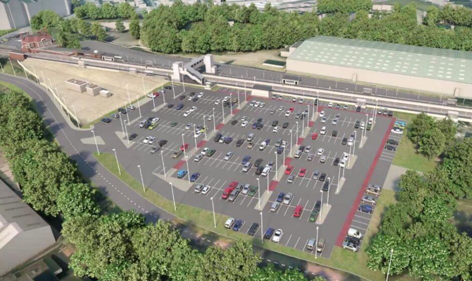 3D model Market Harborough improvements - car park