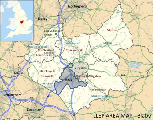 Blaby region map