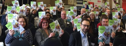 Attendees at the building the workforce launch event