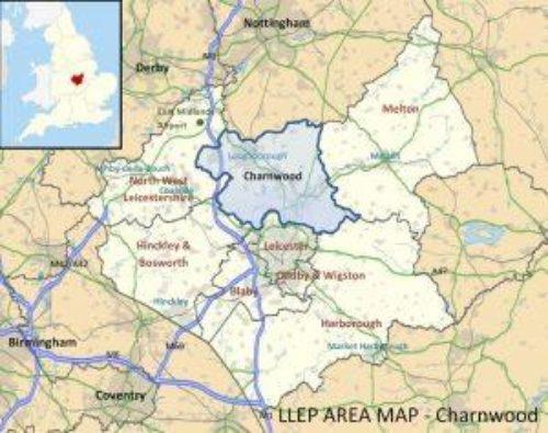 Charnwood region map