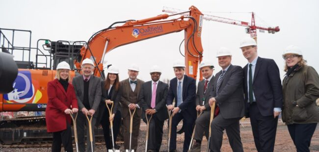 Space Park Leicester groundbreaking