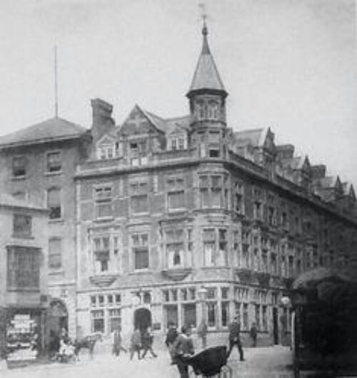 Image of the old Fenwicks building in its original Victorian form