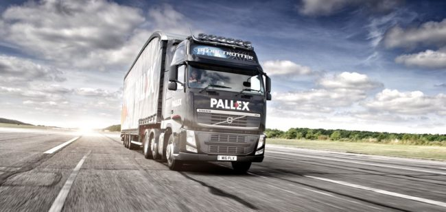 An HGV with Pall Ex logo on front