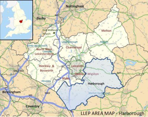 Harborough region map