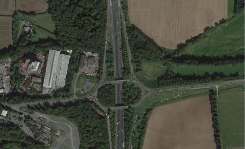 Junction 23 satellite image