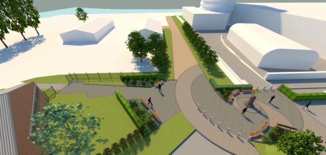 NSC Plaza CGI illustration 3