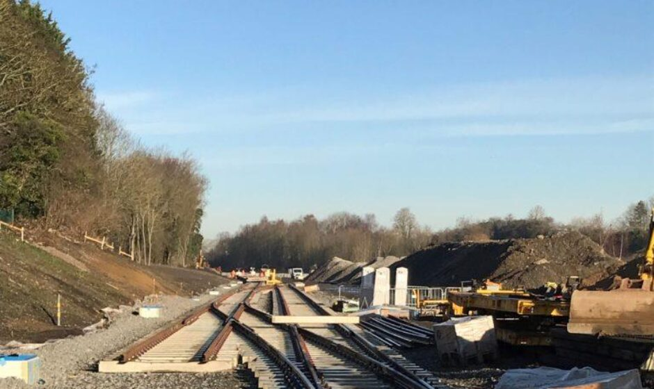 New track being laid at Market Harborough