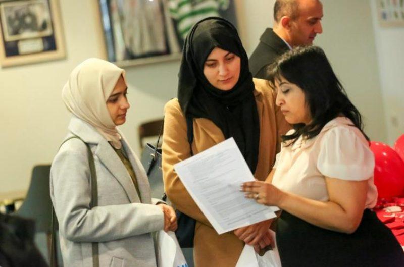 Women at jobs fair