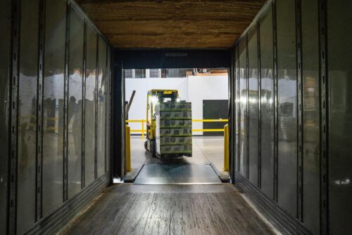 shipping container from the inside