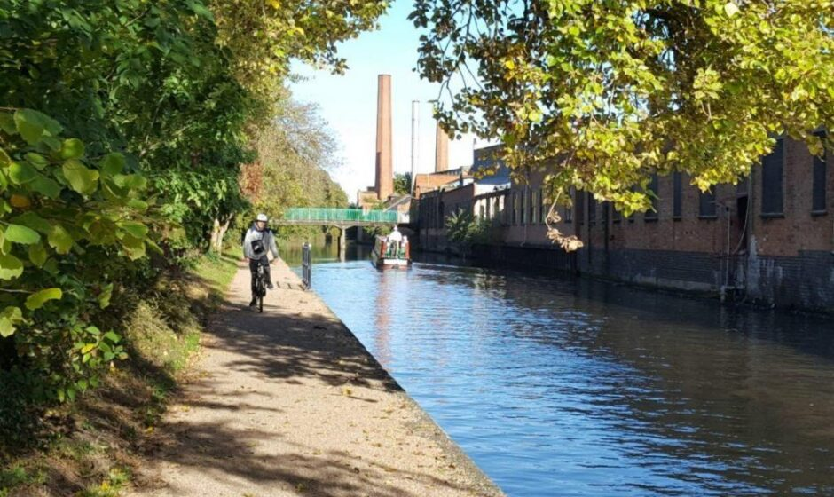 River Soar towpath after