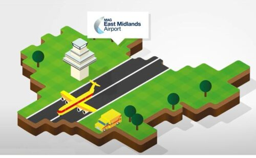 East Midlands Airport infographic