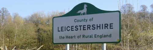 County of Leicestershire sign