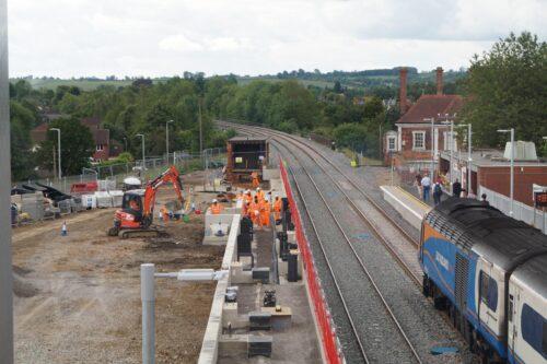 Works taking place at market Harborough station