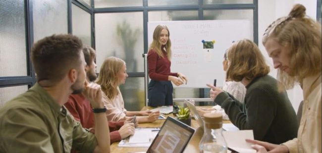 Young People in an office meeting