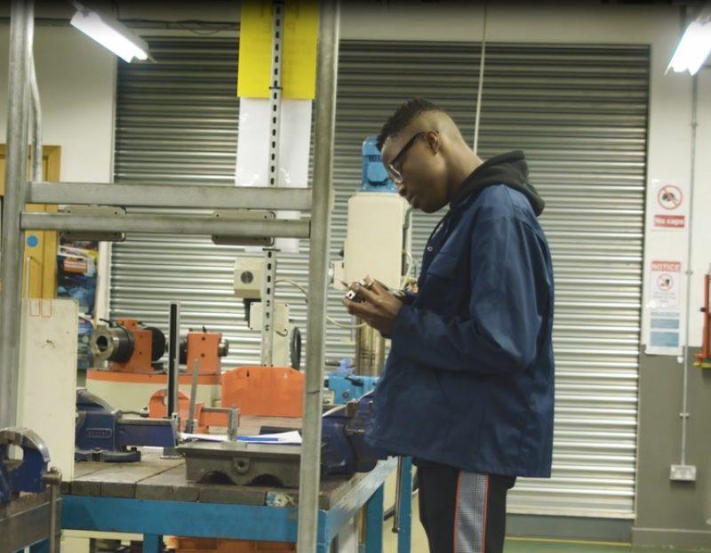 Antoine Akouete-Kuevy, young engineer