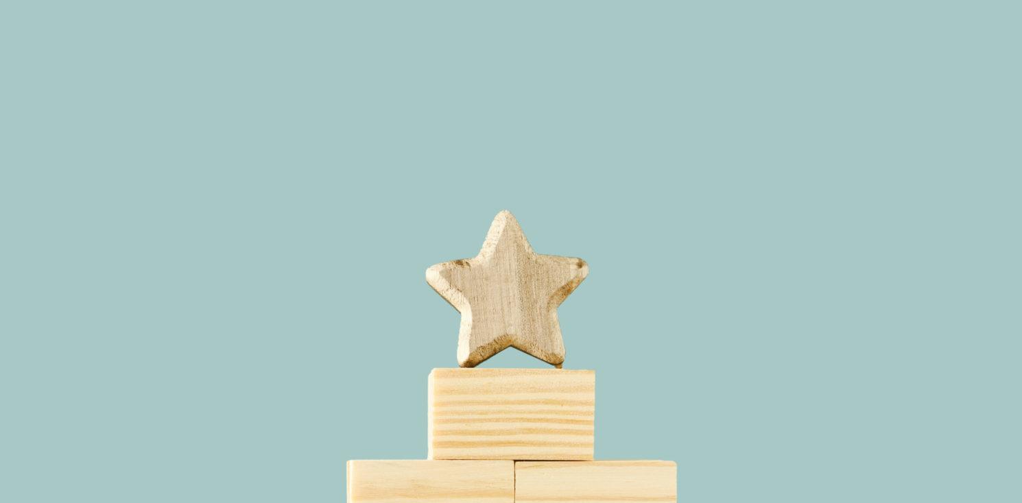 bricks and star