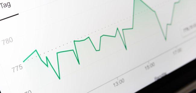 Finance line graph