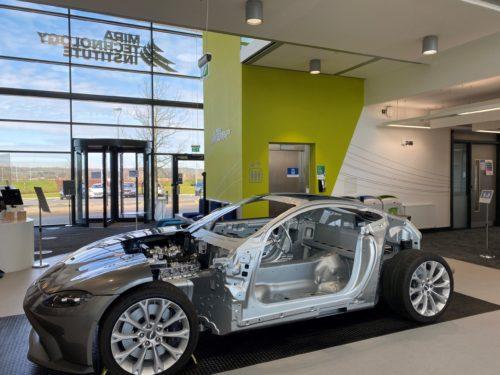 Aston Martin Vantage AM6 cutaway at the MTI
