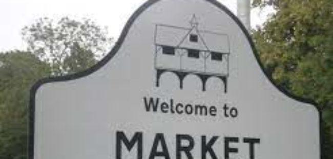 Harborough Road sign