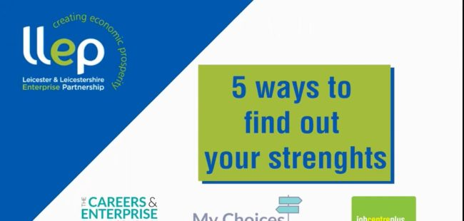 5 ways to find out your strengths title screen