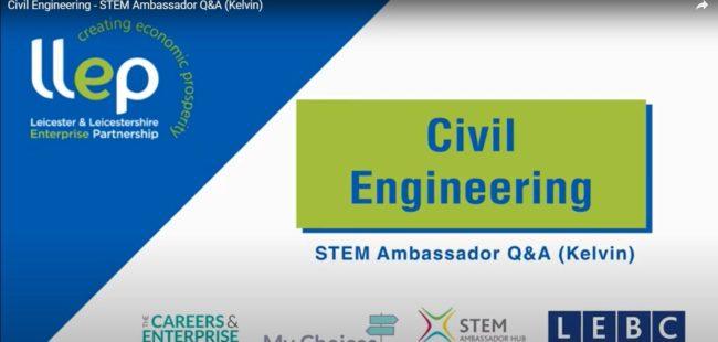 Civil Engineering STEM ambassador – Kelvin title screen