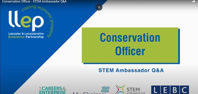 Conservation Officer STEM ambassador title screen