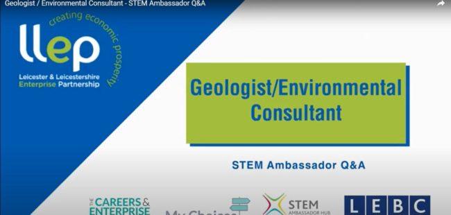Environmental Consultant STEM ambassador title screen