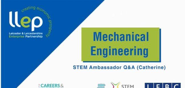 Mechanical Engineering STEM ambassador – Catherine title screen