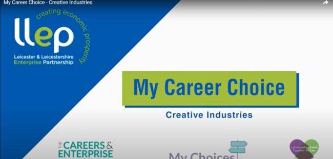 My Career Choice – creative industries title screen
