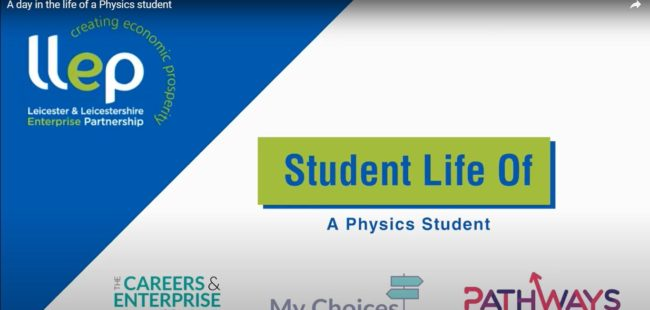 Student life of a physics student title screen
