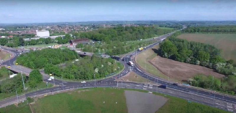 M1 J23 Roundabout June 2021