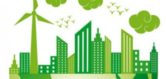 Net Zero Green low carbon skyline
